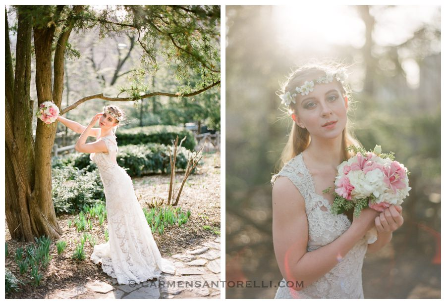 vintage inspired bridal session