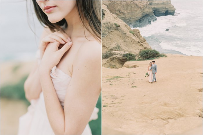 california cliffs wedding